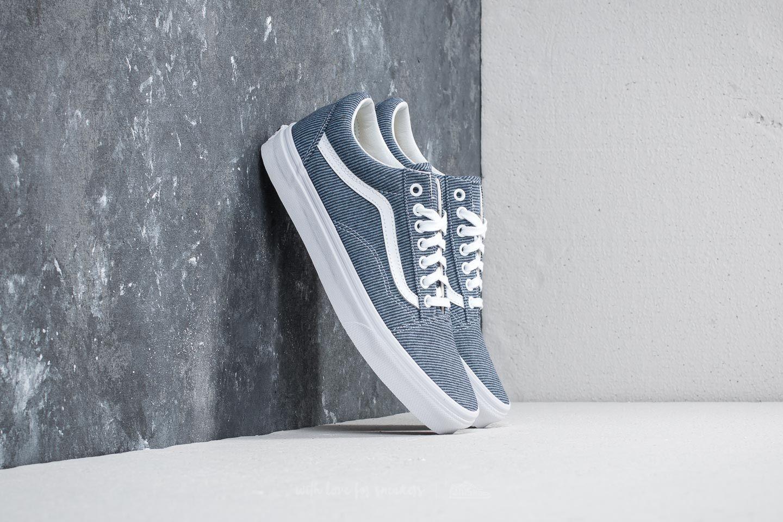 Vans Old Skool (Jersey) Blue  True White  0f5a35815
