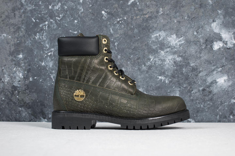 Inch Premium Boot Green Exotic