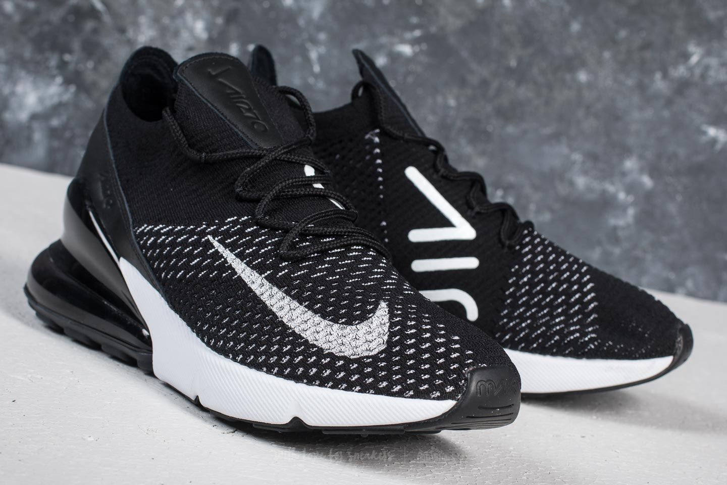 Nike Air Max 270 Flyknit W Black White White | Footshop