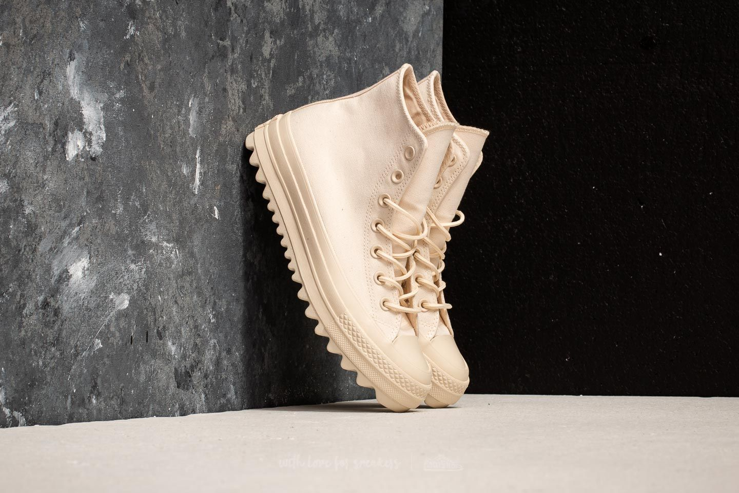 d473b4afdd6 Converse Chuck Taylor All Star Lift Ripple Hi Natural  Natural  Natural ...