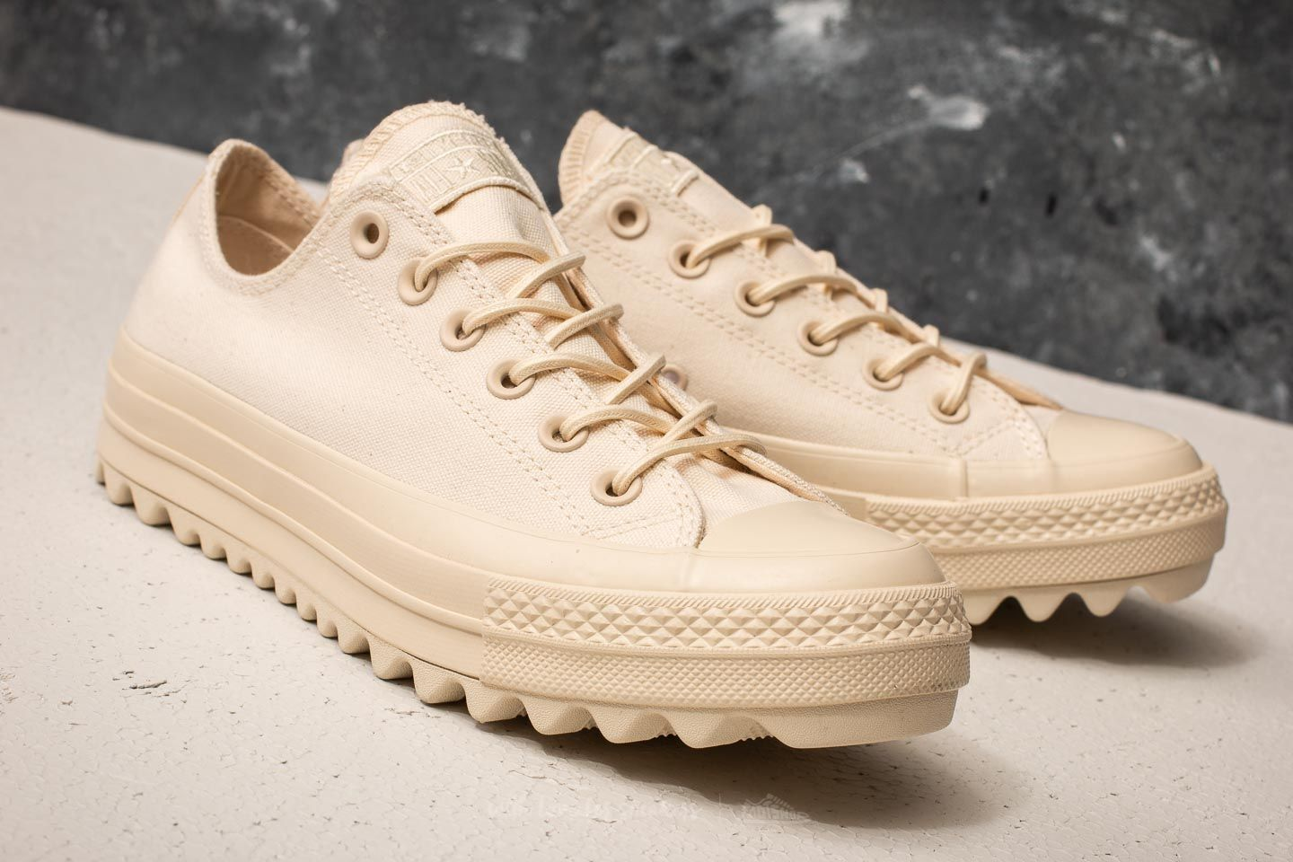Converse Chuck Taylor All Star Lift Ripple Ox Natural Natural Natural | Footshop