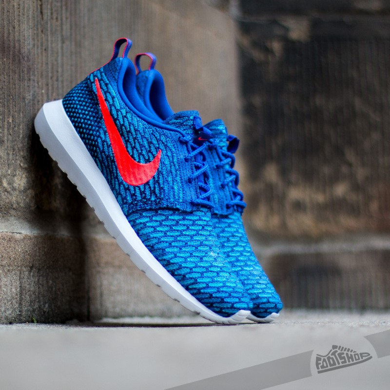 nike flyknit rosherun game royal bright crimson blue lagoon footshop rh footshop eu nike roshe run dark royal blue orange nike roshe run game royal