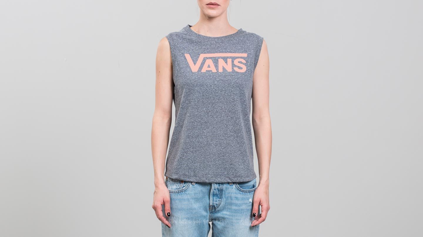 Vans Muscle V Tank Grey Heather-Muted Clay