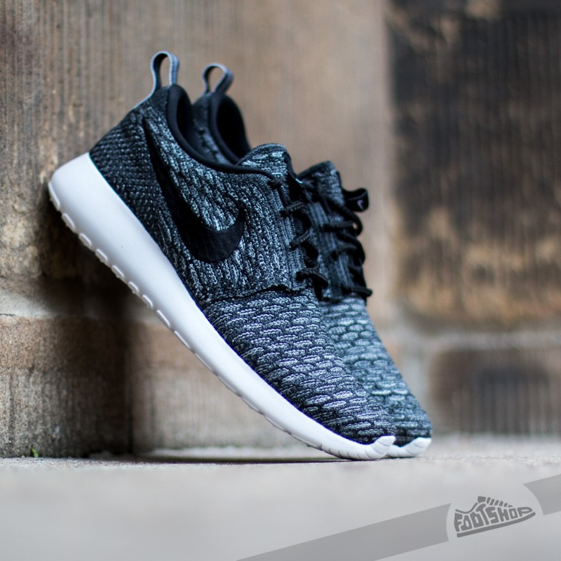 wholesale dealer 72645 aaa1d Nike WMNS Rosherun Flyknit Dark Grey Black-Wolf Gray-White