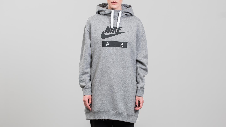 Nike Sportswear Air Hoodie Dress Carbon Heather White Black Footshop