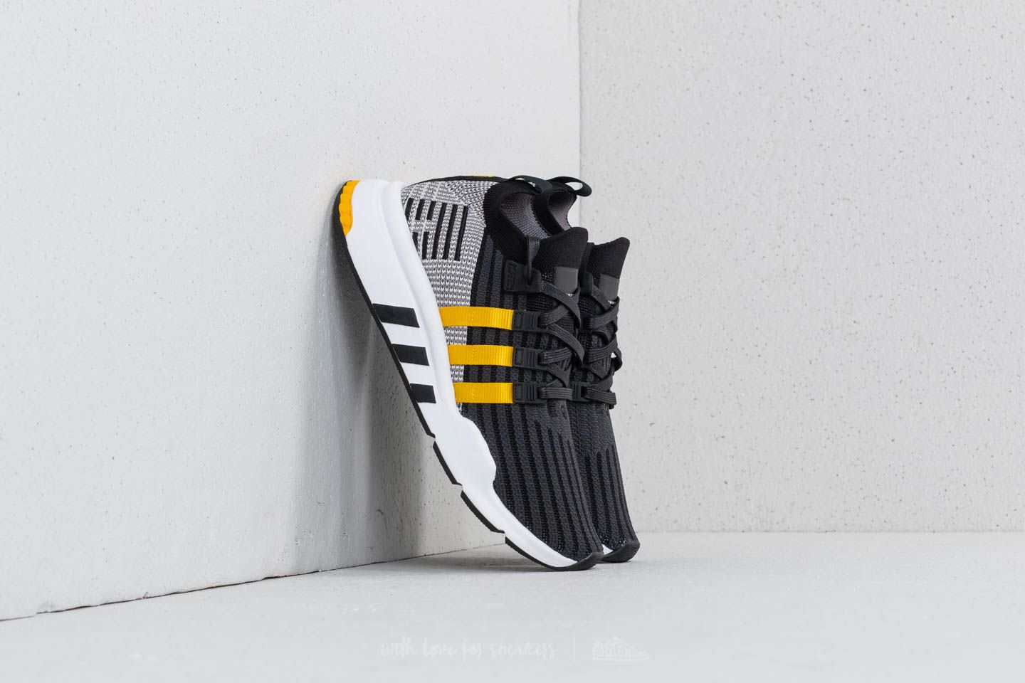 Yellow Primeknit Black Ftw Adidas Core Support Eqt Mid Adv lJTK1cF3