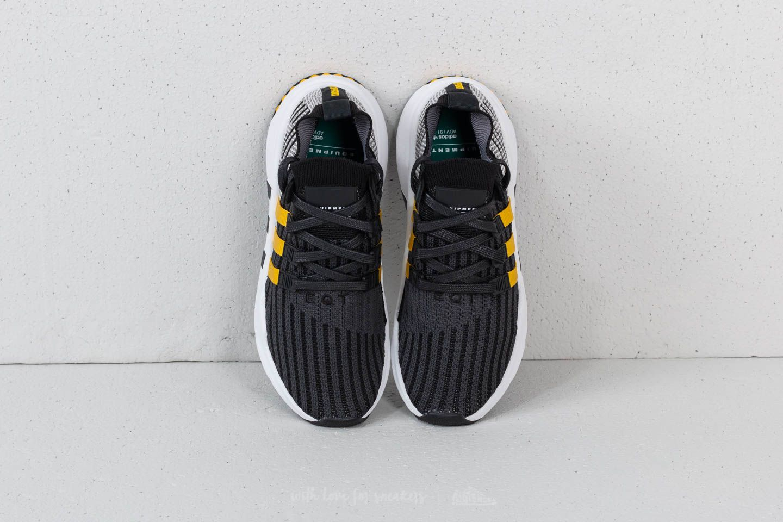 adidas EQT Support Mid ADV Primeknit Core Black Eqt Yellow Ftw White | Footshop