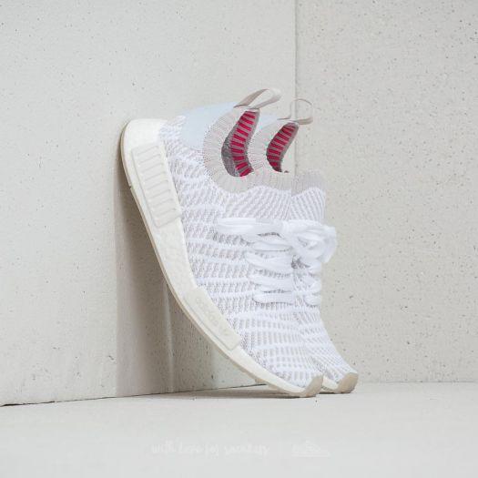 adidas NMD_R1 STLT Primeknit Ftw White Grey One Solar