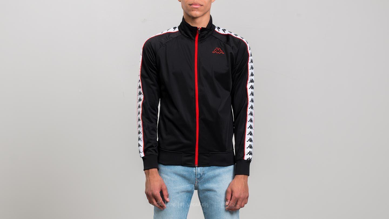 b6e0b18cfa Kappa 222 Banda Anniston Slim Jacket Black-White- Red Orange   Footshop
