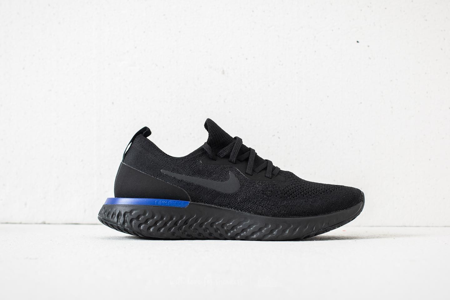 54ec5d8d0dfb Nike Wmns Epic React Flyknit Black  Black-Racer Blue at a great price 88