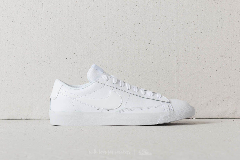 nike blazer leather white