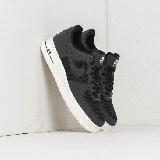 Nike Air Force 1 Low Black Black Sail | Footshop