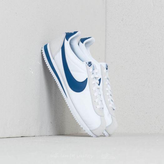 0cff58309c51 Nike Classic Cortez Nylon White  Gym Blue