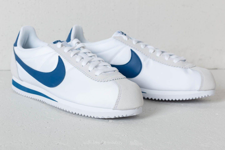 Cariñoso Corbata Al por menor  Men's shoes Nike Classic Cortez Nylon White/ Gym Blue | Footshop