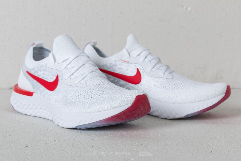 Nike Epic React Flyknit (GS) White University Red | Footshop
