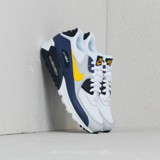 Nike Air Max 90 Essential White Tour Yellow Blue Recall