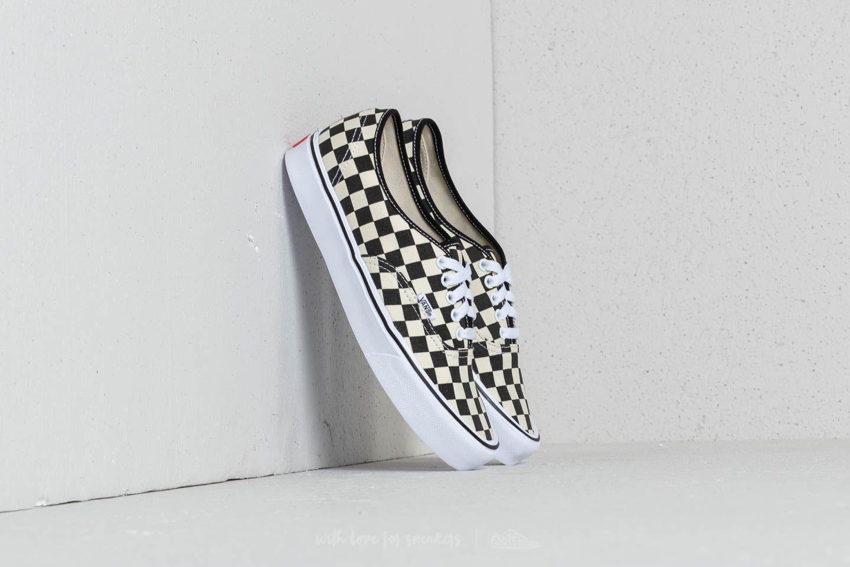 02aca49f41cdd9 Vans Authentic Lite (Checkerboard) Black  White