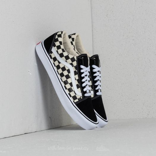 Men S Shoes Vans Old Skool Lite Checkerboard Black White