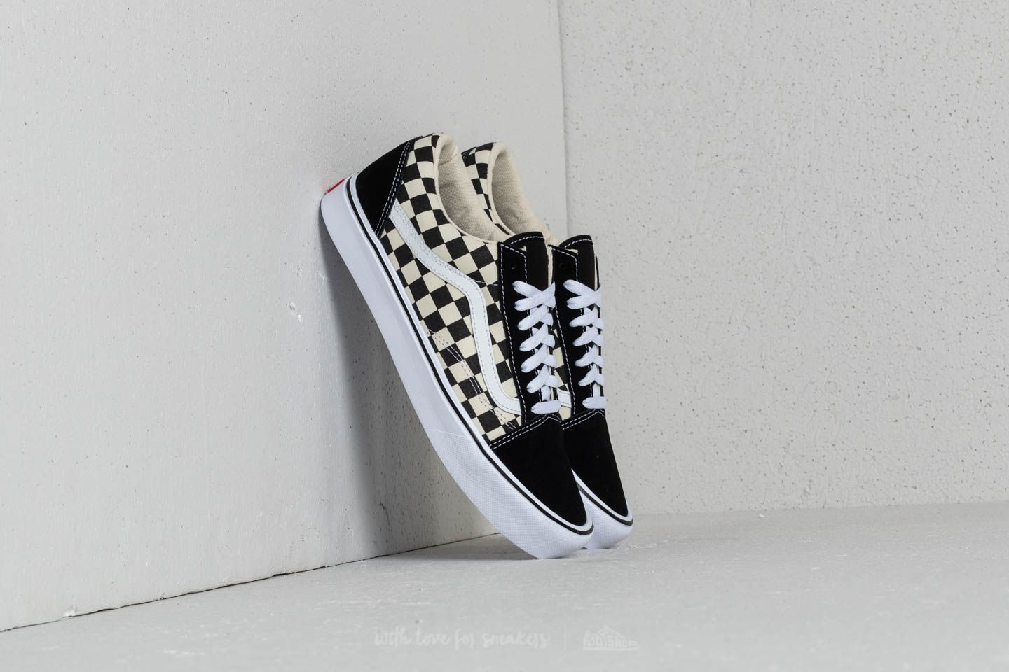 Vans Old Skool Lite (Checkerboard) Black  White  5752929c3