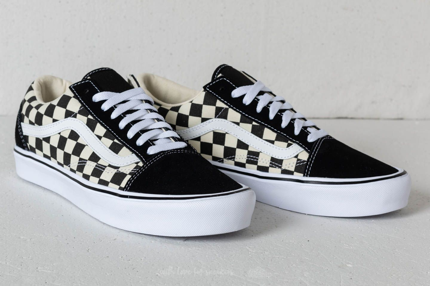 Vans Old Skool Lite (Checkerboard) Black White | Footshop