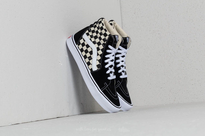 d8421e31c9 Vans Sk8-Hi Lite (Checkerboard) Black  White