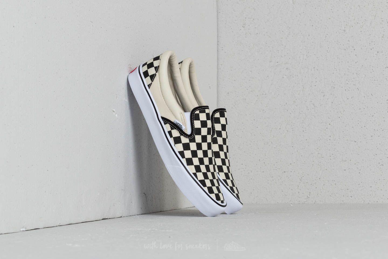 c3d0b5c531 Vans Slip-On Lite (Checkerboard) Black  Classic White