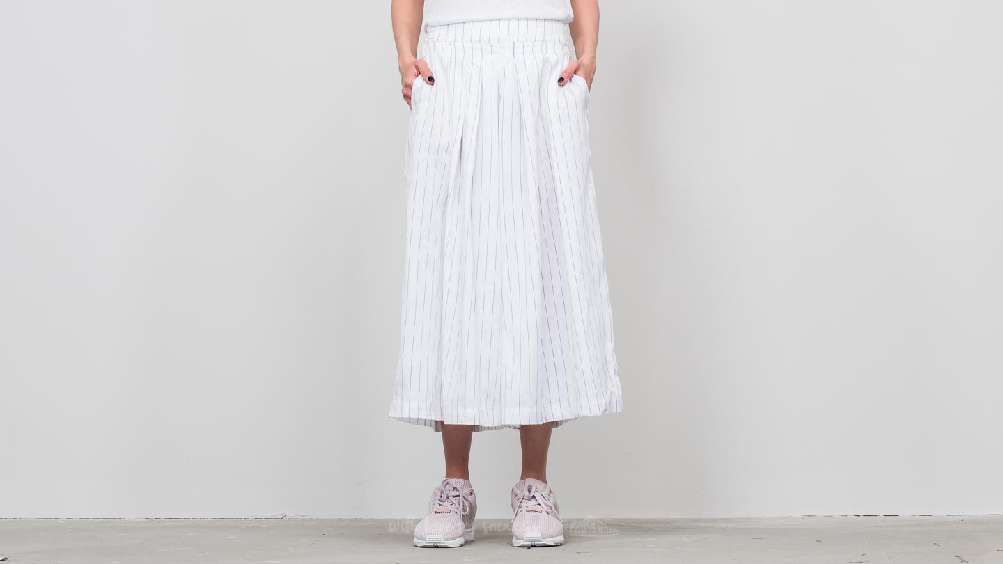 SELECTED Sfraika HW Cropped Wide Pants Bright White/ Black