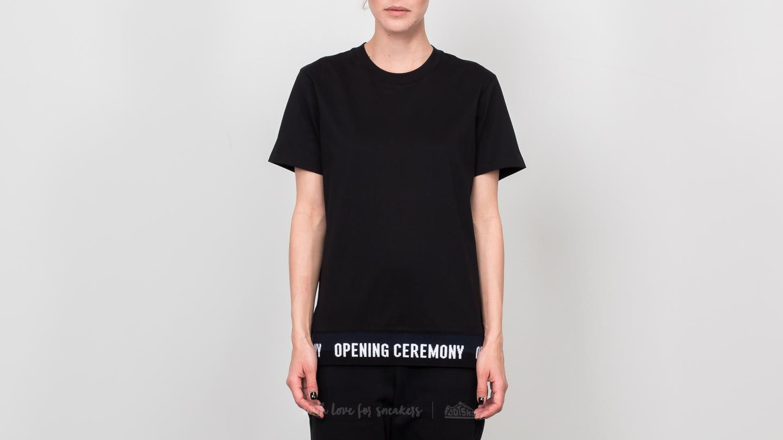 Opening Ceremony Elastic Logo Tee Black za skvělou cenu 1 320 Kč koupíte na Footshop.cz