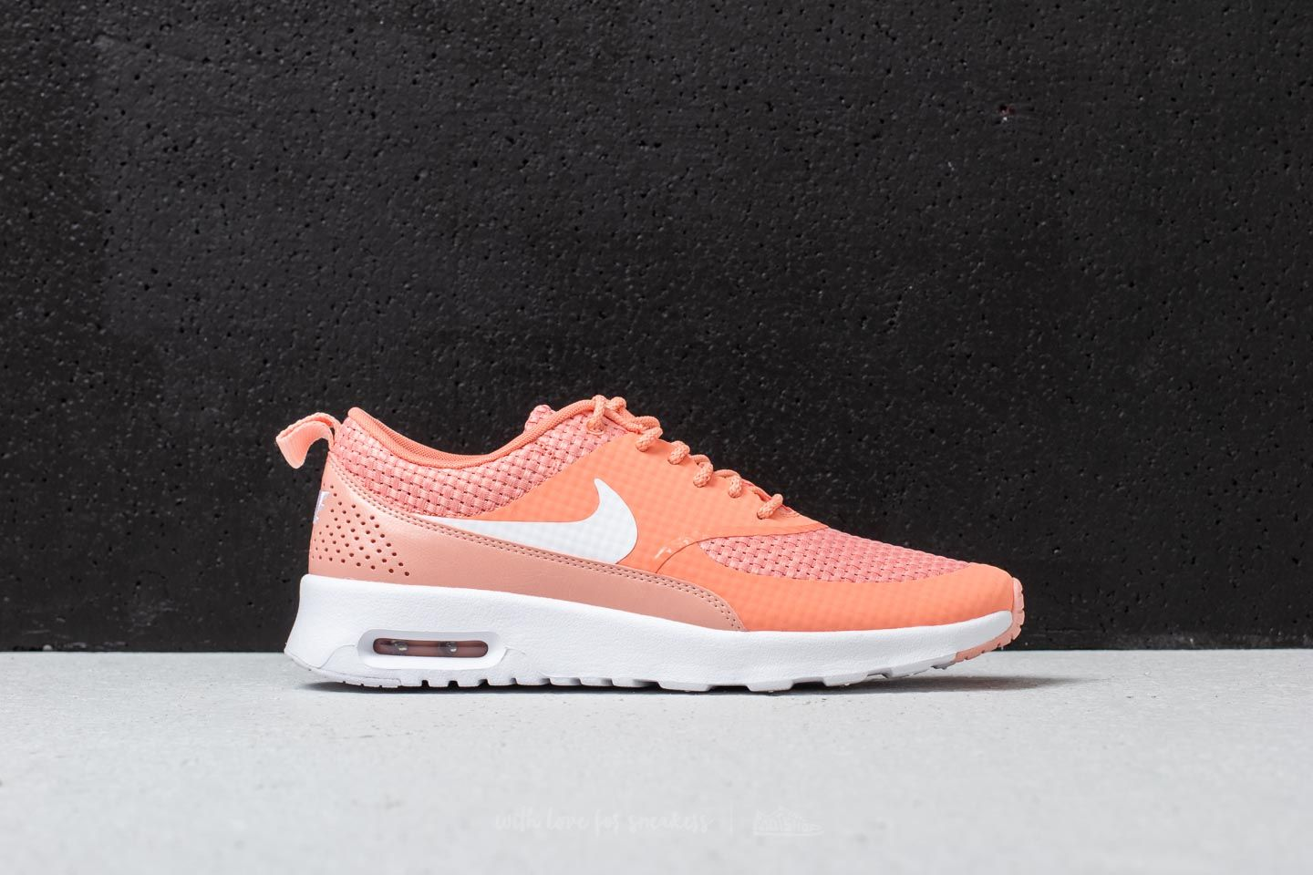 factory price 9ed2a 44153 Nike Wmns Air Max Thea Premium Crimson Bliss  White at a great price 73 €
