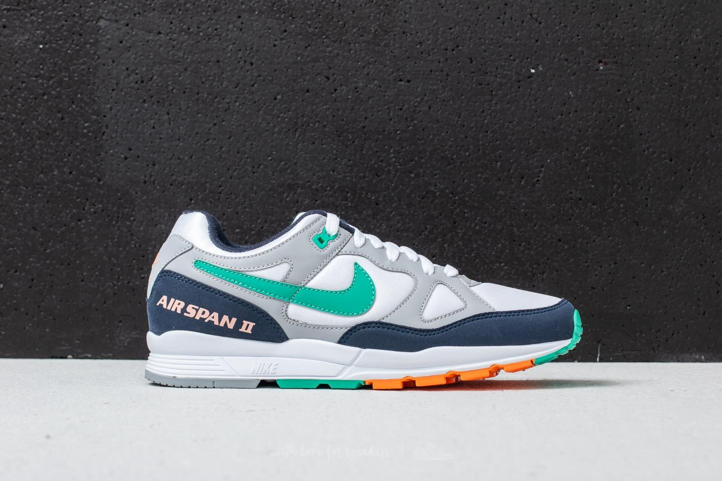 new concept 024c6 235b7 Nike Air Span II Wolf Grey Kinetic Green at a great price £86 buy