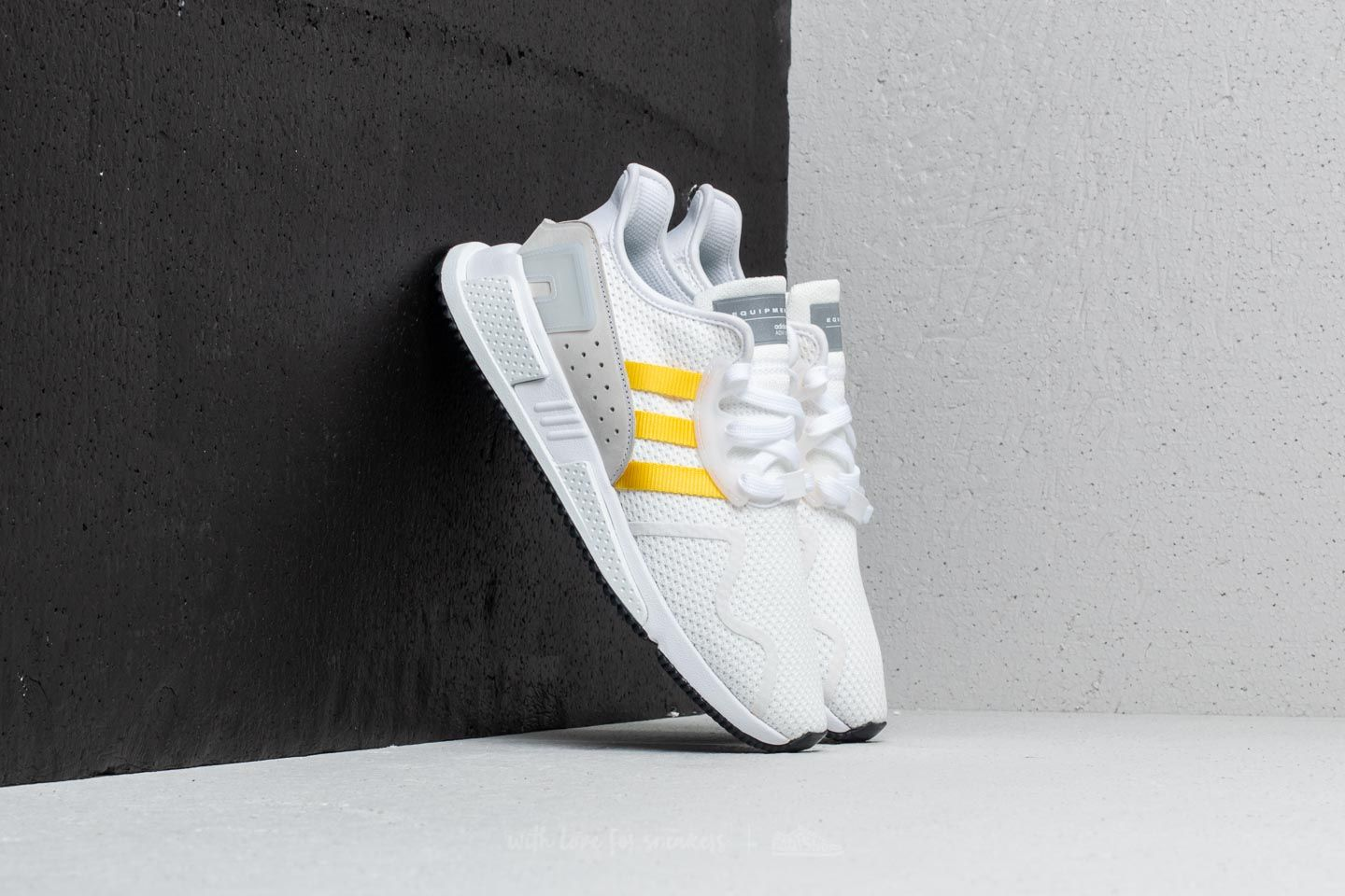 6aac2a297bde adidas EQT Cushion ADV Ftw White  Eqt Yellow  Silver Metallic at a great  price