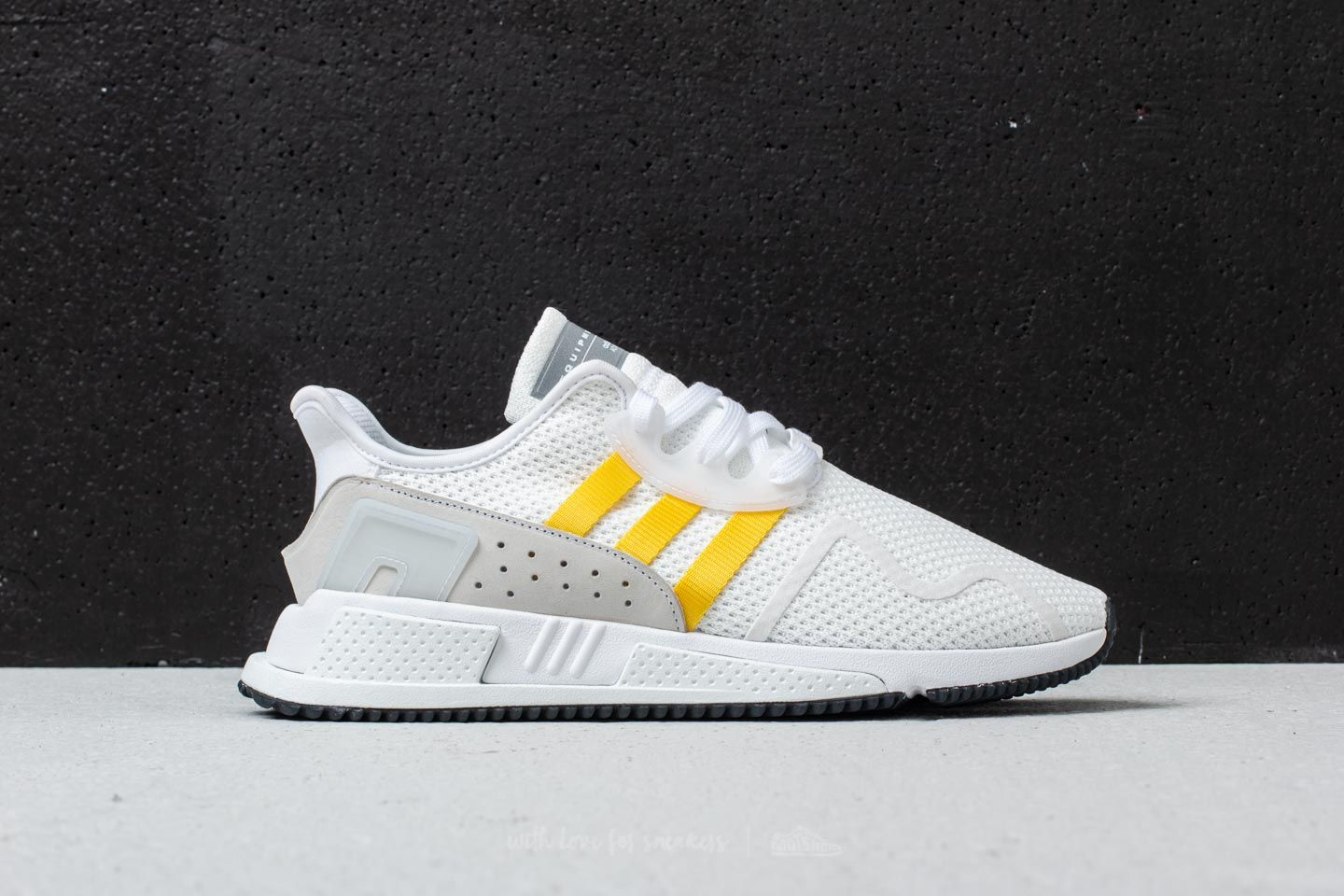 23f4bc260220 adidas EQT Cushion ADV Ftw White  Eqt Yellow  Silver Metallic at a great  price