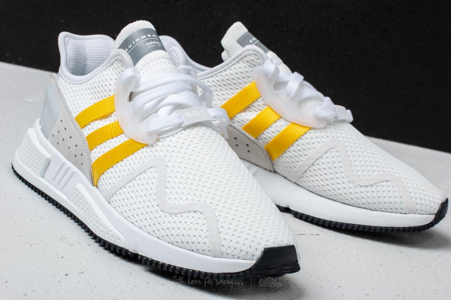 new concept 1e115 e17d4 adidas EQT Cushion ADV Ftw White/ Eqt Yellow/ Silver ...