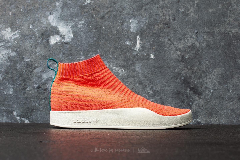 adidas Adilette Primeknit Sock Summer Trace Orange Trace Orange White Tint | Footshop