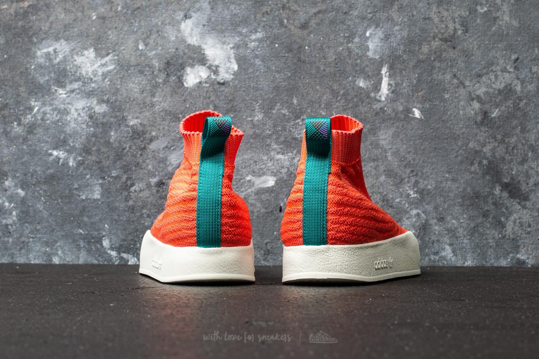adidas Adilette Primeknit Sock Summer Trace Orange Trace Orange White Tint   Footshop