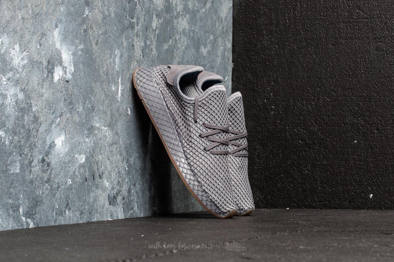de9f509d2ca17 adidas Deerupt Runner J Grey Three  Grey Four  Gum 1