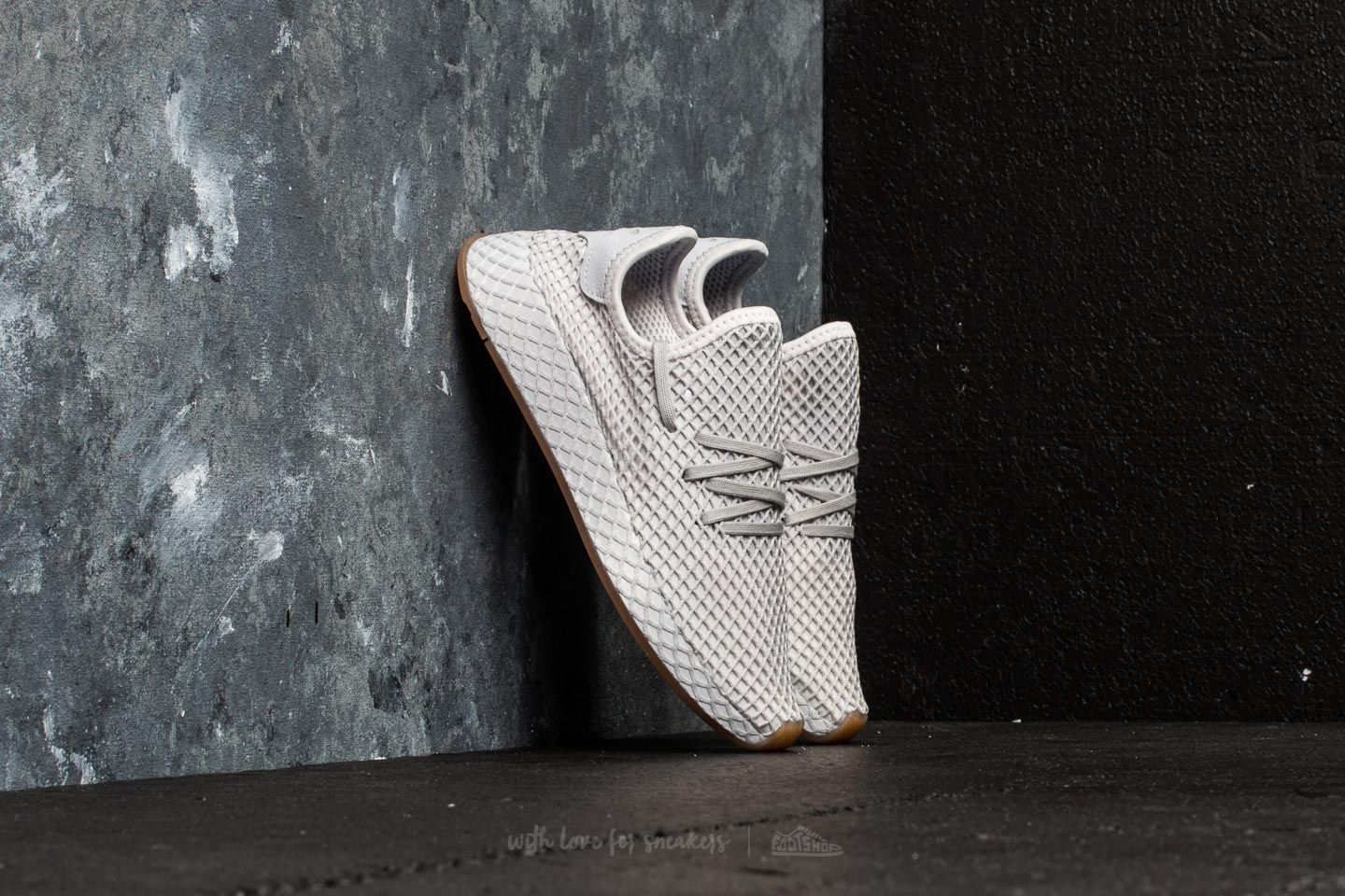 810606597eb6a adidas Deerupt Runner J Grey One  Lgh Solid Grey  Gum 1