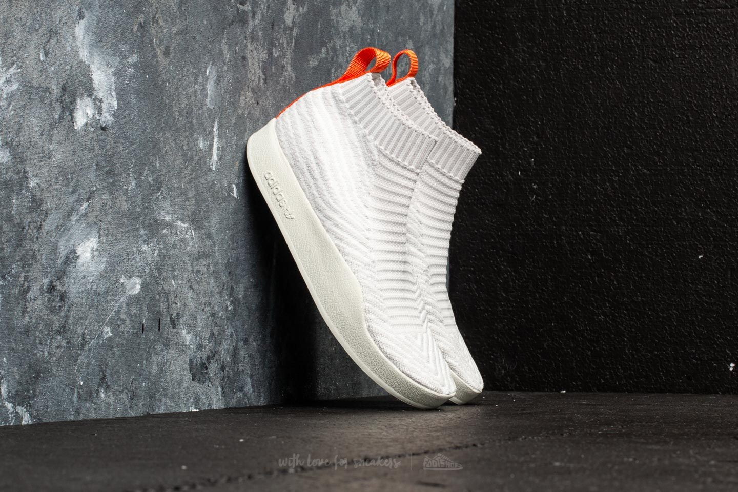 adidas Adilette PK Sock Summer White Tint  Crystal White Grey One at a great 487622dd91