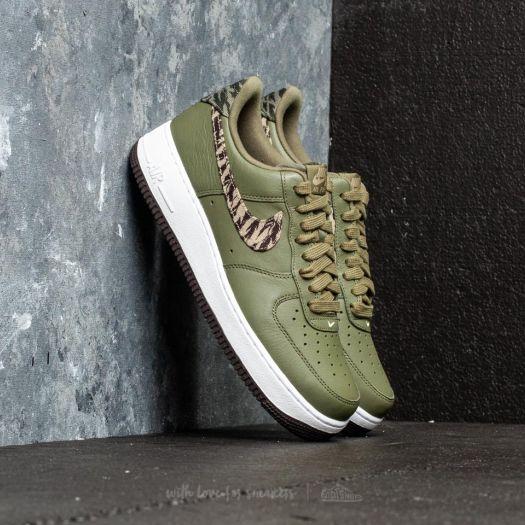Nike Air Force 1 AOP Premium Medium Olive Khaki | Footshop