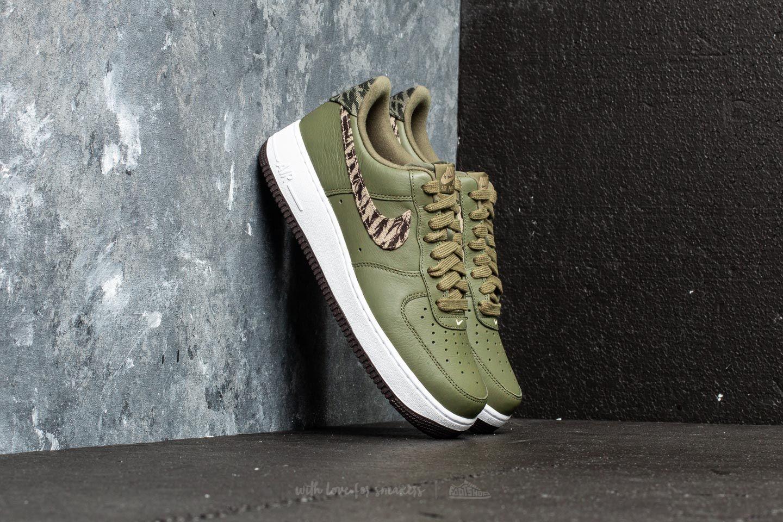 Nike Air Force 1 Premium AOP Shoes Medium Olive Khaki