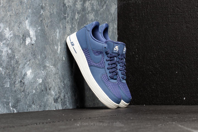 d5e5a51c47e Nike Air Force 1 Low Blue Recall  Blue Recall-Sail