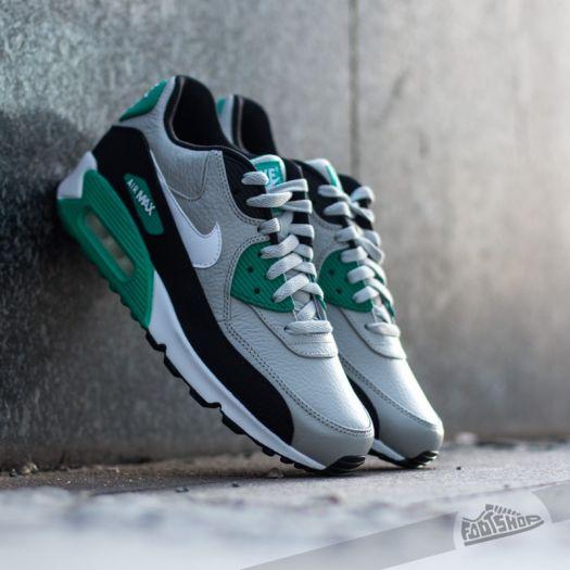 Nike Air Max 90 Leather GraniteWhiteBlackEmerald | Footshop
