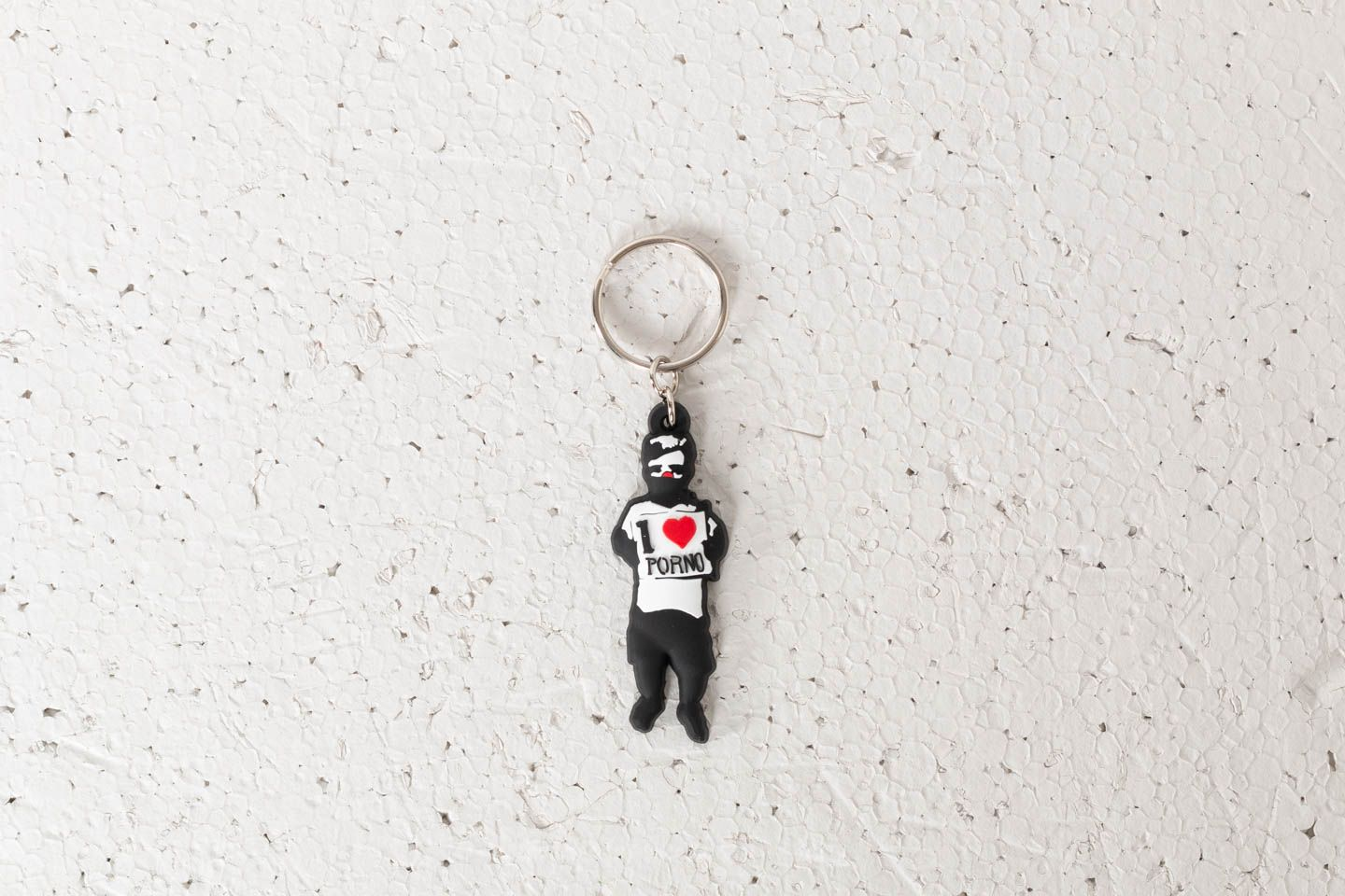 Life is Porno Keychain: Rumpel Black/ White