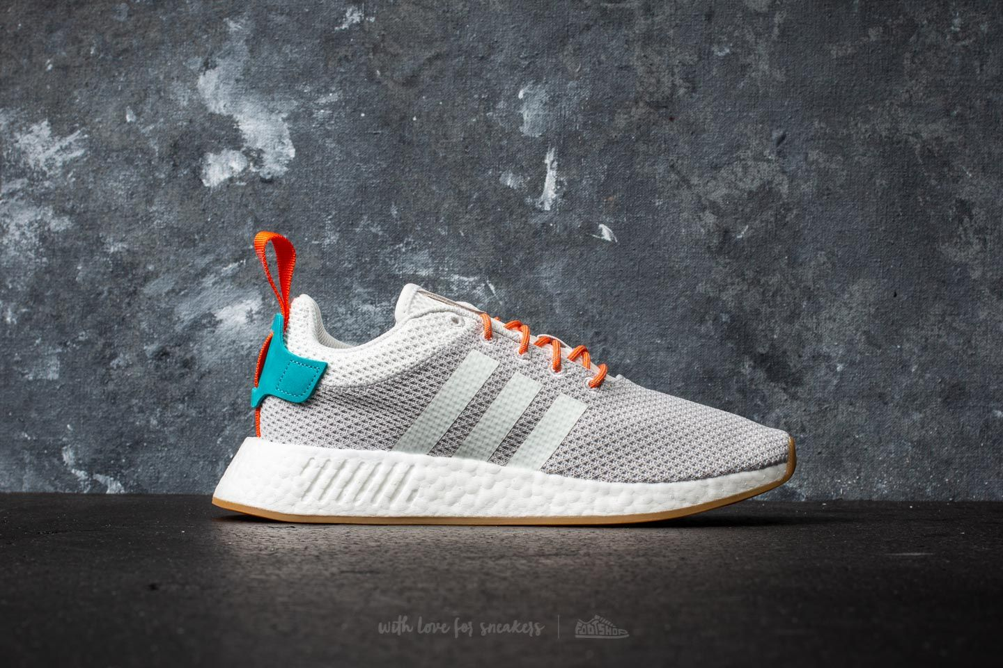 7401b519c adidas NMD R2 Summer Crystal White  Trace Orange  Blue at a great price   138 buy
