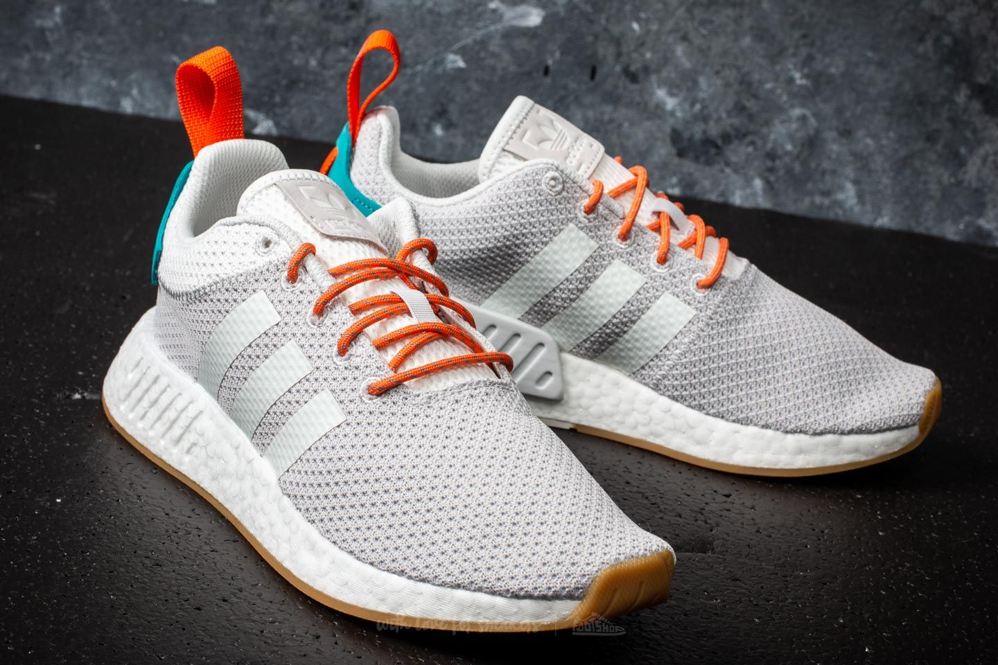 adidas NMD R2 Summer Crystal White  Trace Orange  Blue at a great price   138 buy 9a4d78b76