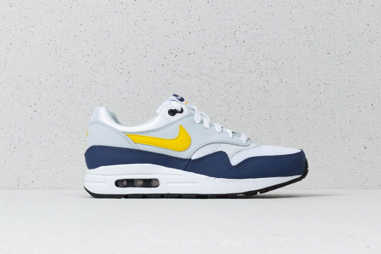 fb134d74e493 Nike Air Max 1 (GS) White  Tour Yellow-Blue Recall at a