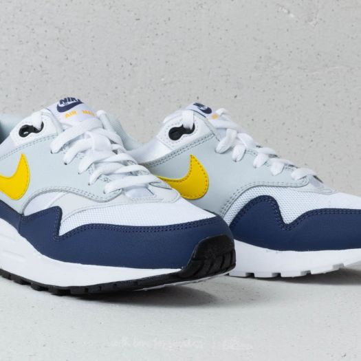 Nike Air Max 1 (GS) White Tour Yellow Blue Recall   Footshop