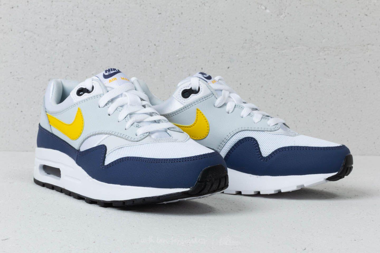 Nike Air Max 1 white tour yellow blue recall Men