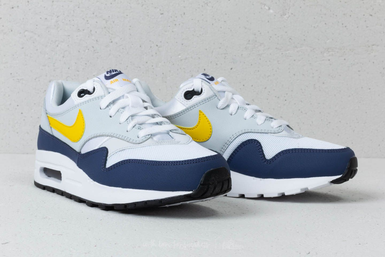 Nike Air Max 1 GS White Tour Yellow Blue Recall At A