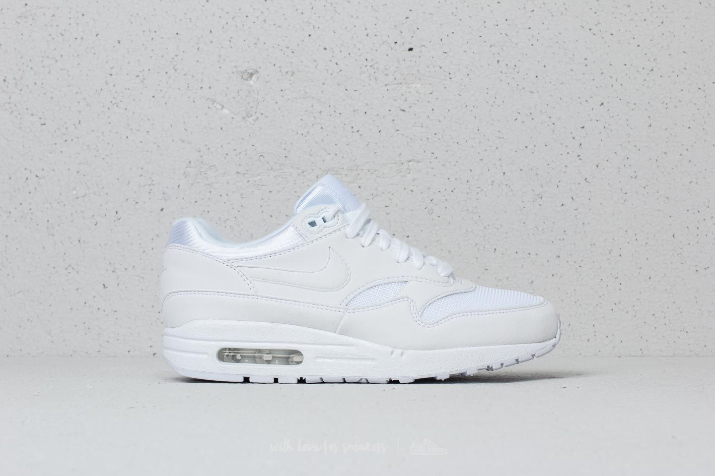 online retailer 88cab 4e5a7 Nike Air Max 1 WMNS White  White-Pure Platinum at a great price £